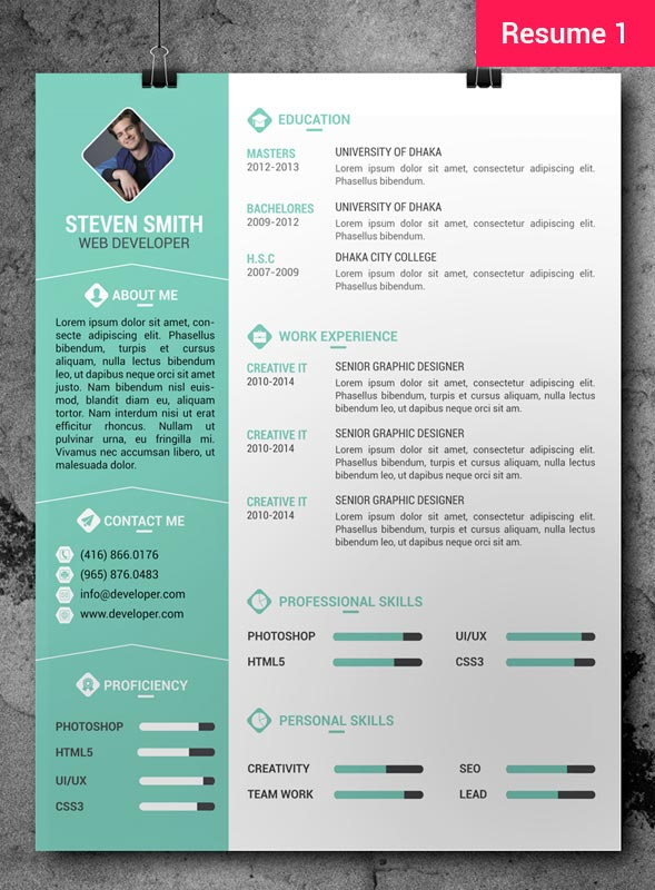 resume free template download