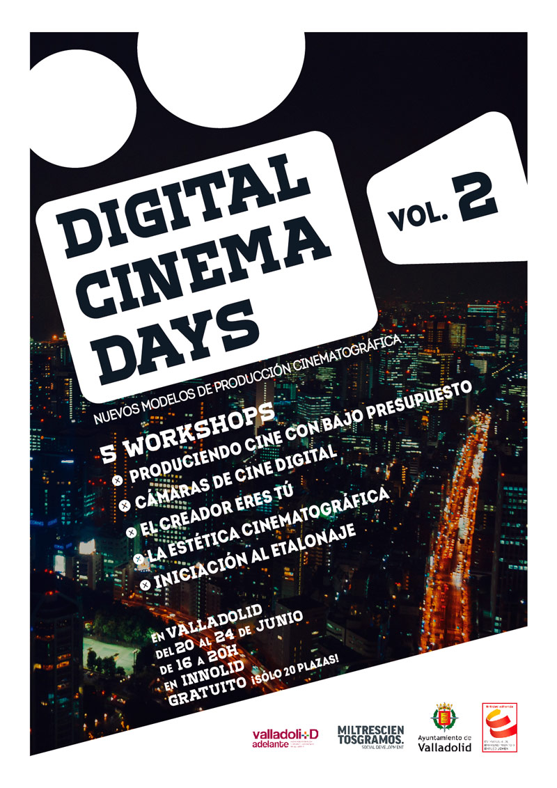 Digital Cinema Days vol.2 en Valladolid – jornadas gratuitas sobre cine digital